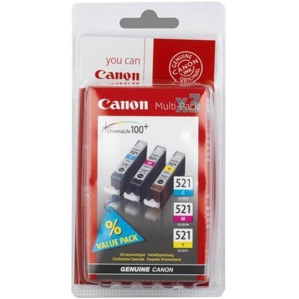 Canon tusz CLI521 Pack CMY do iP3600/iP4600/MP540/MP620/MP630/MP979