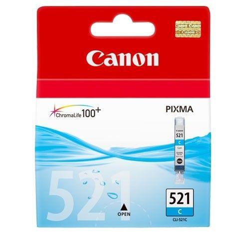 Canon Tusz CLI521C cyan | iP3600/iP4600/MP540/MP620/MP630/MP980