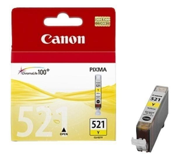 Canon tusz CLI521Y yellow do iP3600/iP4600/MP540/MP620/MP630/MP980 (9ml)