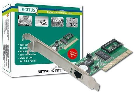 Digitus karta sieciowa 10/100 (chip Realtek 8139D)