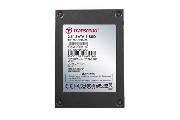 Transcend SSD 128GB 2.5'' SATA3 (MLC) -40C~85C with Iron Case