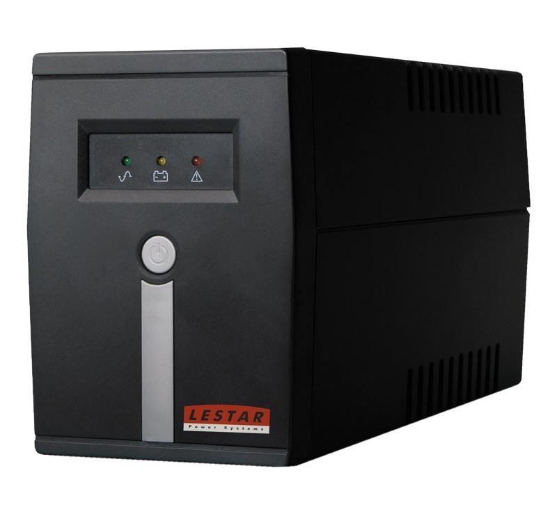 Lestar UPS MC-655 600VA/360W AVR 4xIEC + gratis ZX 510 G-A K.:WH 1,0M