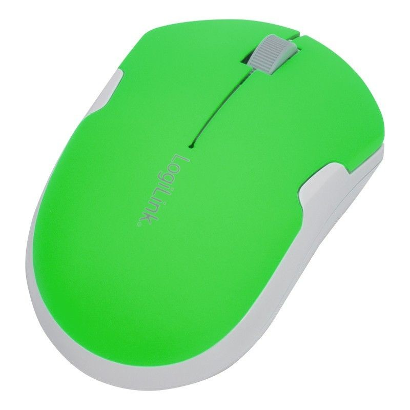 LogiLink Bezprzewodowa mysz 2.4GHz zielona
