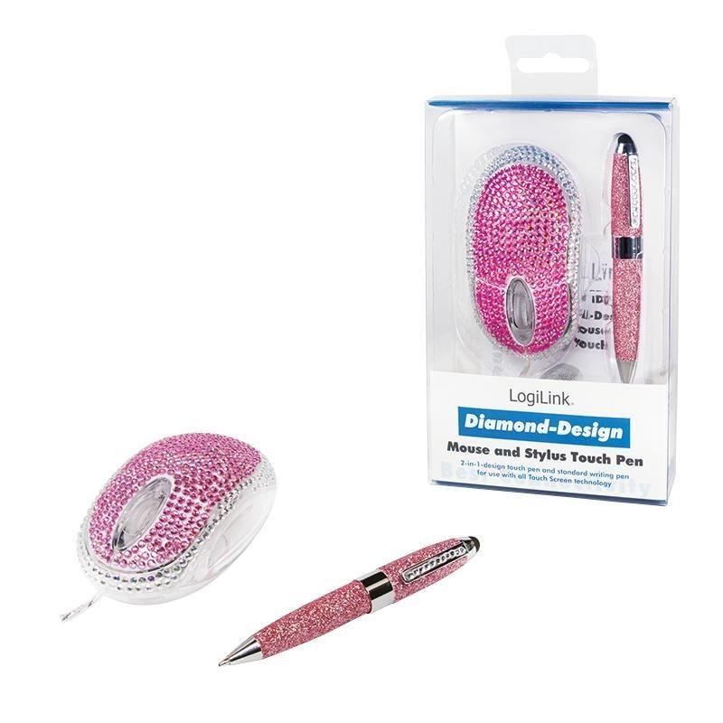 LogiLink Mysz przewodowa optyczna USB Diamond 800dpi & TouchPen ID0124 LogiLink