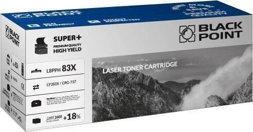 Black Point Toner Black Point LBPPH83X | Black | 2600 str. | HP CF283X / CRG-737