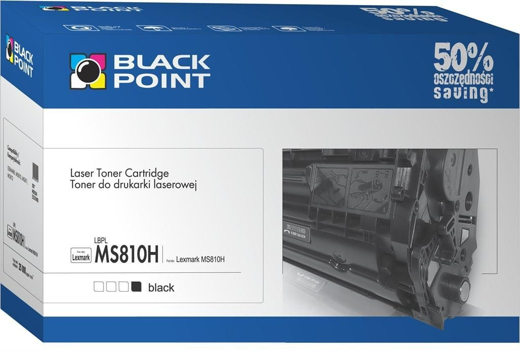 Black Point Toner Black Point LBPLMS810 | Black | 6000 str. | Lexmark 52D2000