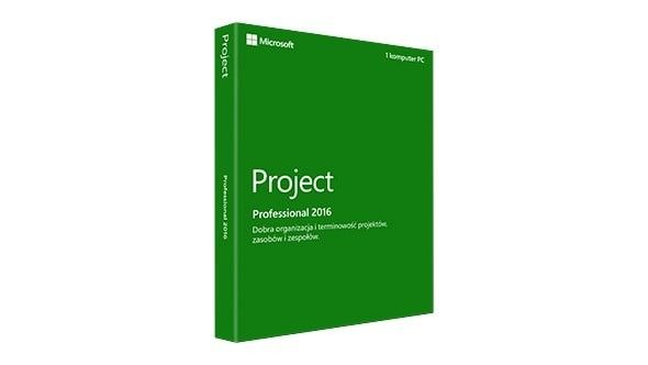 Microsoft Project Pro 2016 Polish - Box
