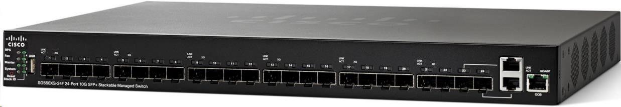 Cisco Systems Cisco SG550XG-24F 24-Port 10G SFP+ Stackable Managed Switch