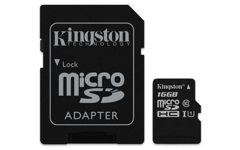 Kingston karta pamięci Micro SDHC 16GB Class 10