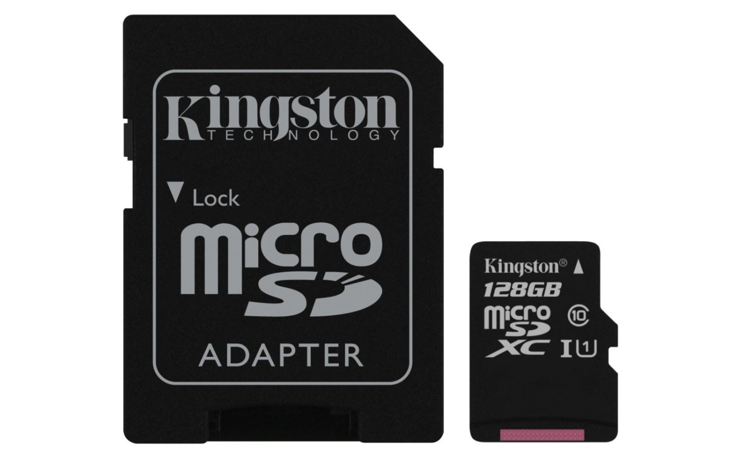 Kingston karta pamięci microSDXC 128GB CL10 UHS-I + Adapter