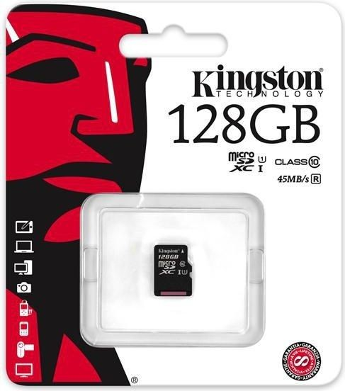 Kingston karta pamięci microSDXC 128GB CL10 UHS-I