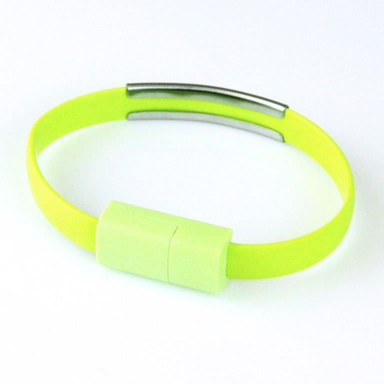 Global Technology KABEL USB microUSB BRANSOLETKA zielona
