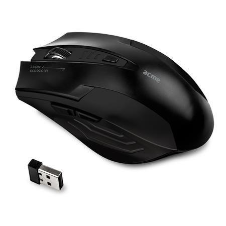 Acme Mysz bezprzewodowa ACME MW14 optyczna nano USB czarna