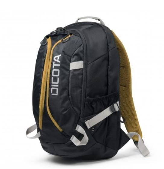 Dicota Backpack Active 14-15,6'' black yellow Plecak na notebook czarno żółty