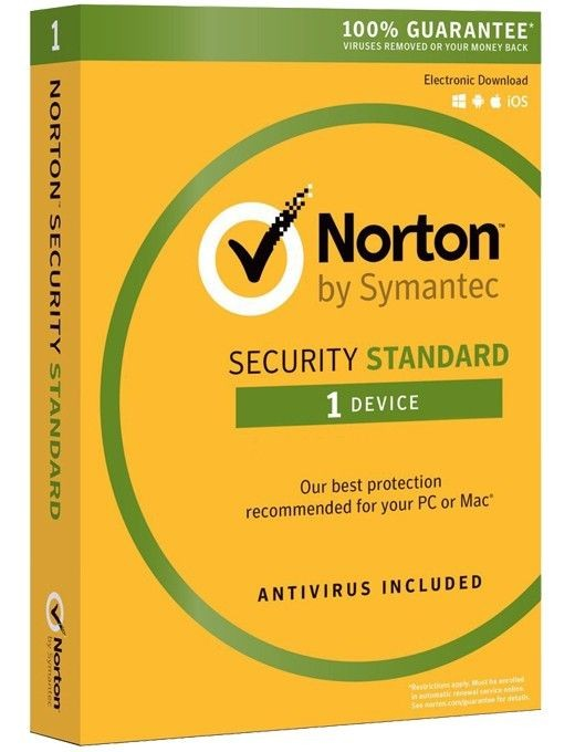 Symantec NORTON SECURITY STANDARD 3.0 PL 1 USER 1 DEVICE 12MO CARD MM
