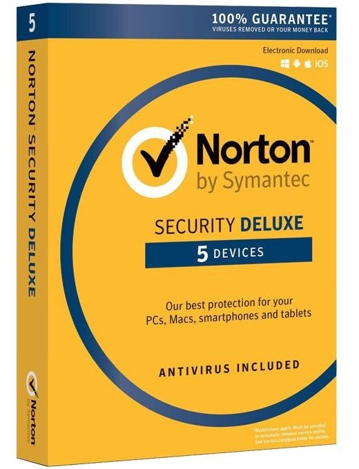 Symantec NORTON SECURITY DELUXE 3.0 PL 1 USER 5 DEVICES 12MO CARD MM
