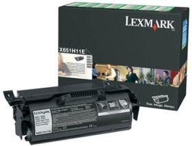 Lexmark toner black (return, 25000str, X651de/X652de/X654de/X656de)