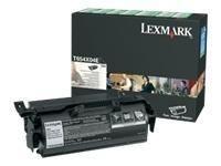Lexmark toner black (return, do aplikacji naklejkowych, T654dn/T654dtn)