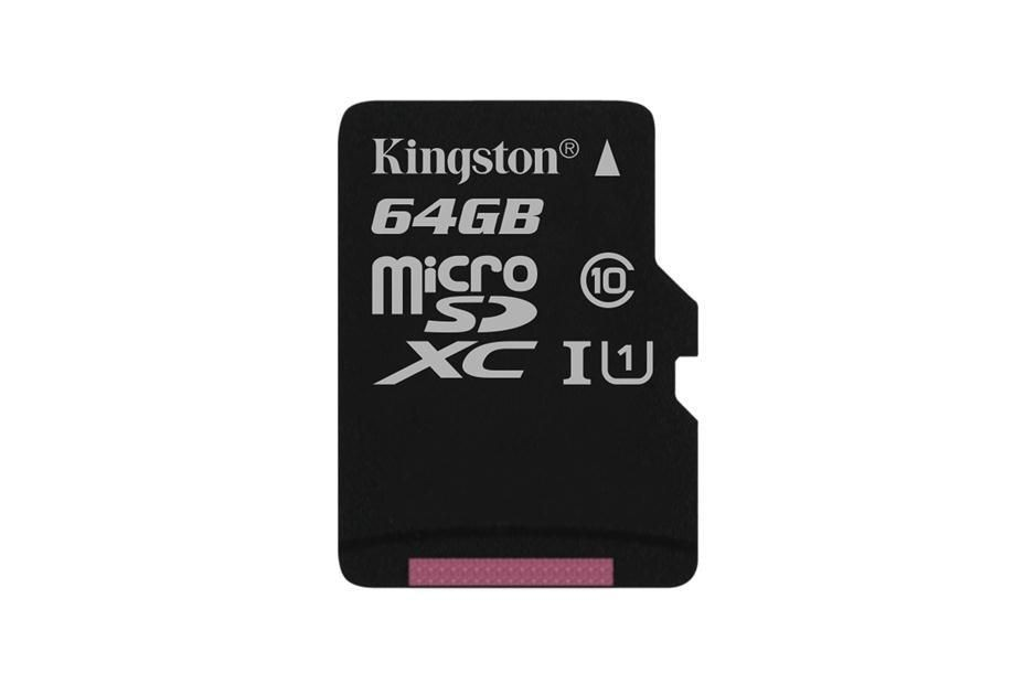 Kingston karta 64GB microSDXC Class 10 UHS-I, 45/10MB/s