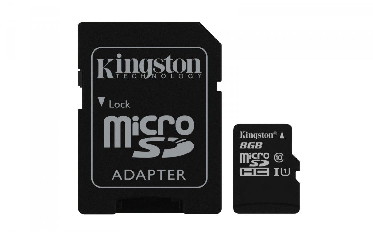 Kingston microSD 8GB Class 10 Gen2 1-adapter