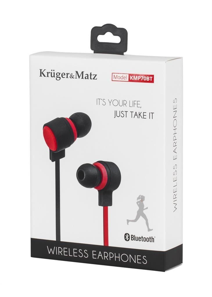 Kruger & Matz Bezprzewodowe słuchawki douszne z mikrofonem KMP70BT