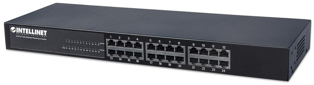 Intellinet Network Solutions Ethernet switch 24x 10/100 Mb/s RJ45 rack 19'' metal czarny