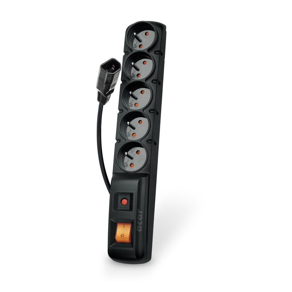 HSK Acar F5 IEC listwa zasilająco-filtrująca, czarna, 3m