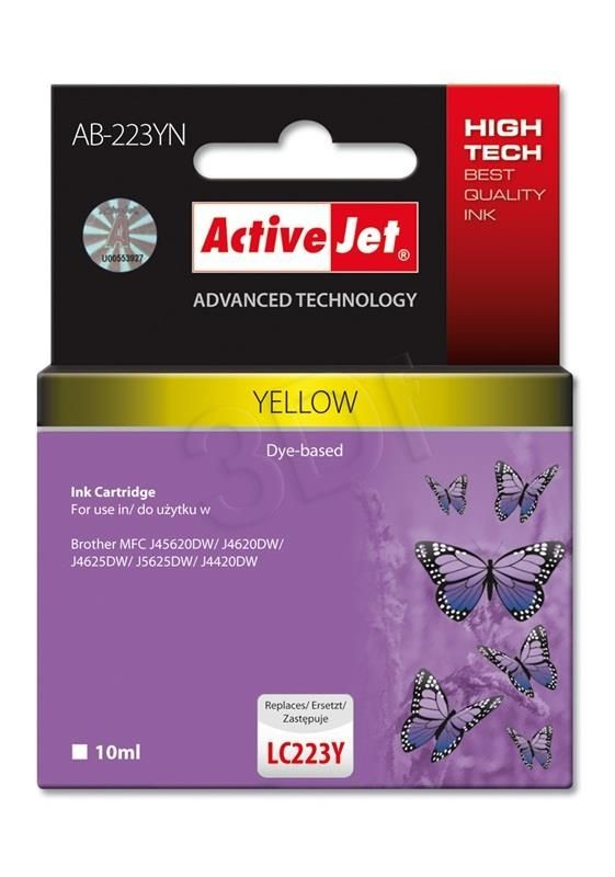 ActiveJet Tusz ActiveJet AB-223YN | Brother LC223Y