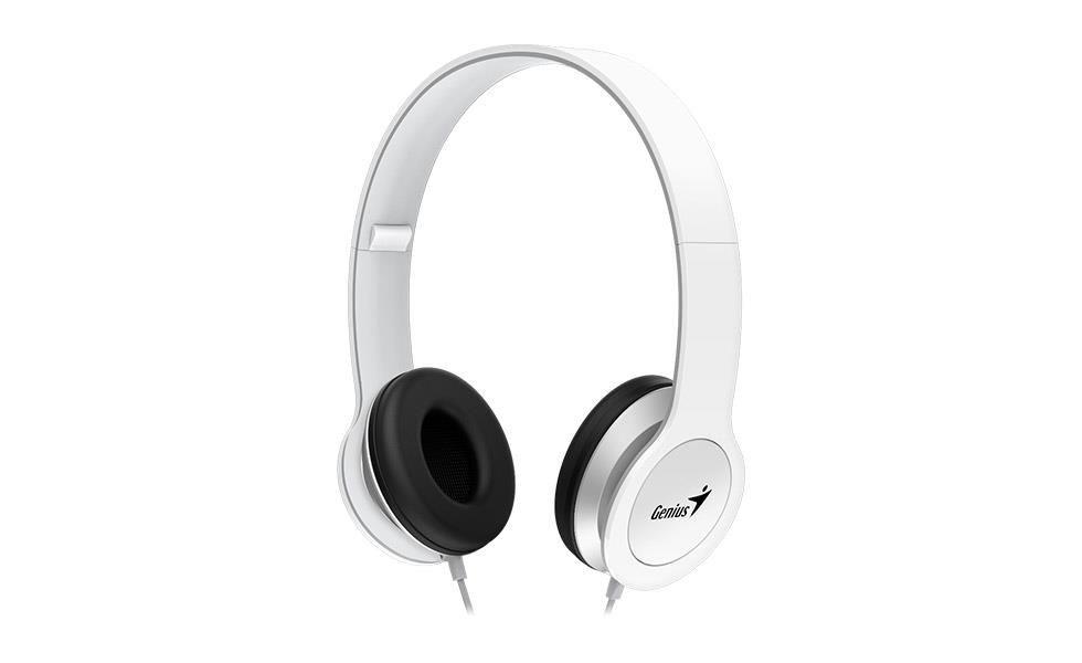 Genius sluchátka s mikrofonem HS-M430, bílá