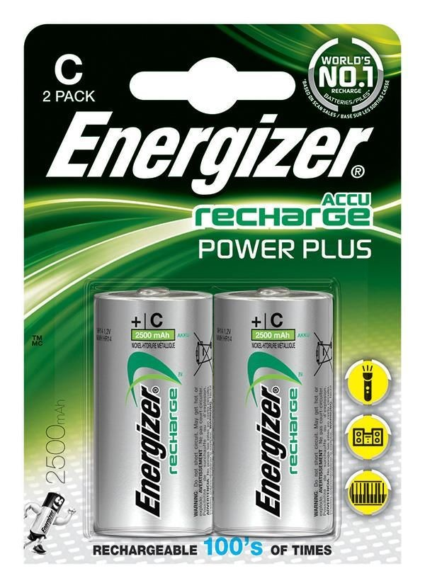 Energizer Akumulator Power Plus, C, HR14, 1,2V, 2500mAh, 2szt.