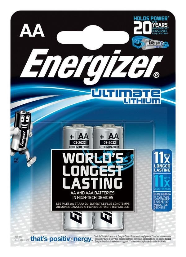 Energizer Bateria Ultimate Lithium, AA, L91, 1,5V, 2szt.