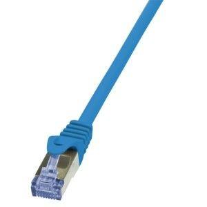 LogiLink Patchcord Cat.6A 10G S/FTP PIMF PrimeLine 1m niebieski
