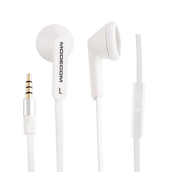 ModeCom Słuchawki douszne MC-131 z mikrofonem, Biały