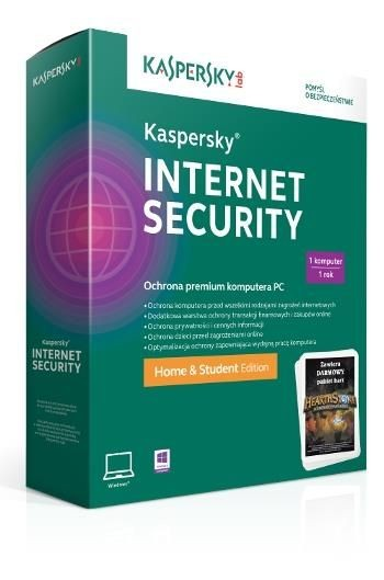 Kaspersky Program KIS Home & Student Edition 2.0 1Y/1U + HEARTH STONE