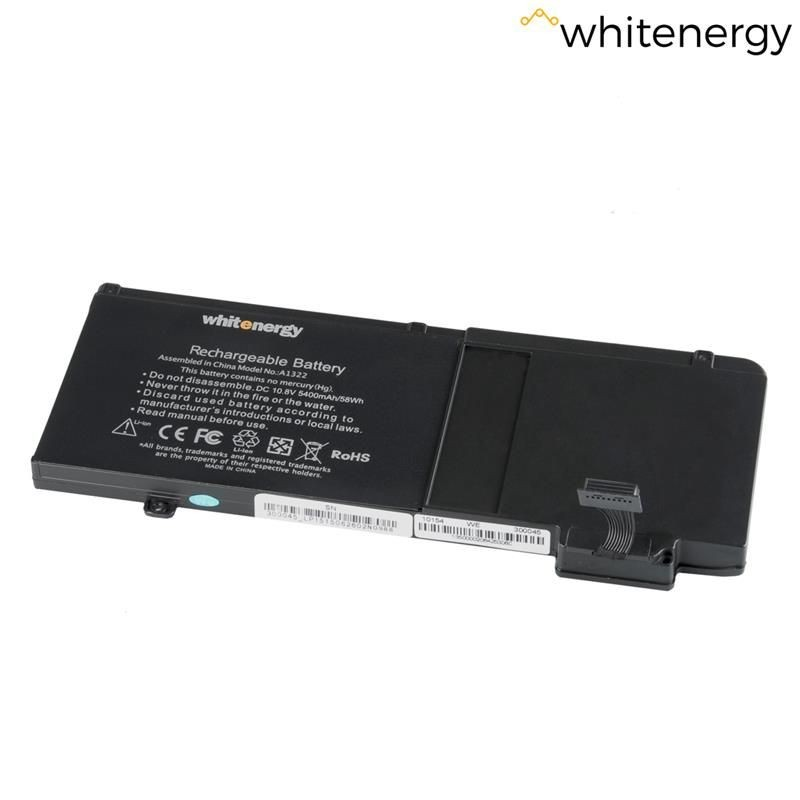 Whitenergy bateria do laptopa Apple MacBook Pro A1322 10.8V Li-Ion 5400mAh