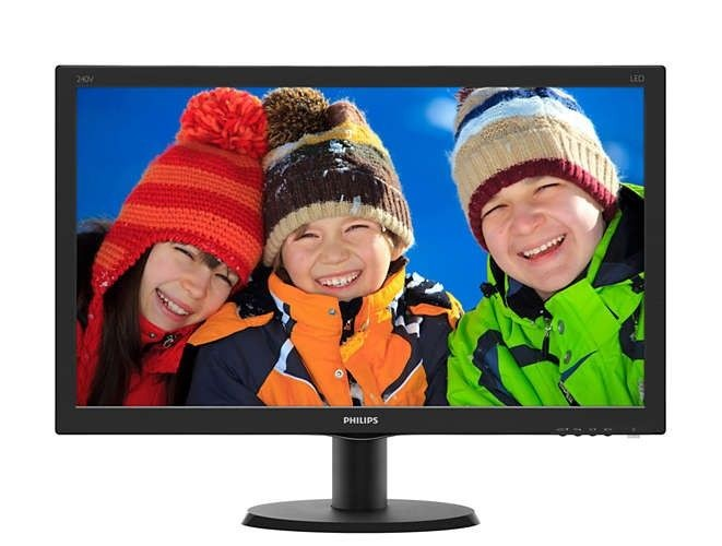 Philips Monitor 240V5QDSB/00, 23.8'', panel IPS, D-Sub/DVI/HDMI
