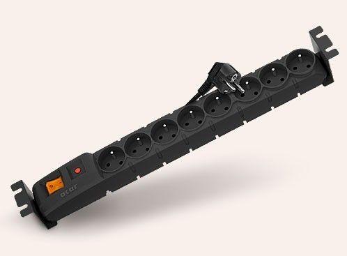 HSK Acar S8 FA Rack (8 gniazd, czarna, 3m)