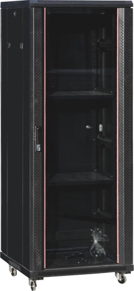 Netrack szafa serwerowa stojąca Economy 22U/600x600mm (drzwi szklane) - czarna