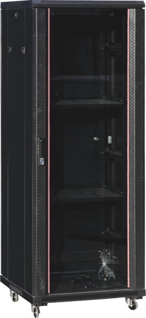Netrack szafa serwerowa stojąca Economy 22U/600x800mm (drzwi szklane) - czarna