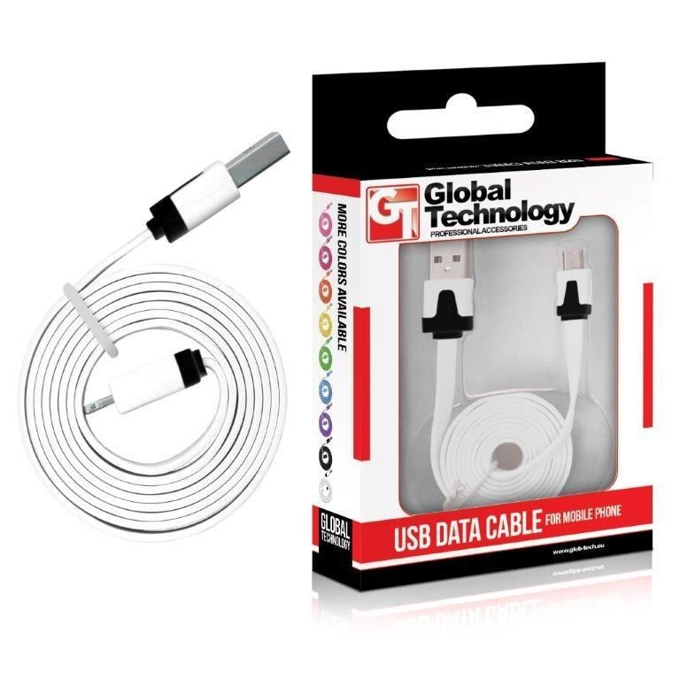 Global Technology GT Kabel USB - microUSB biały