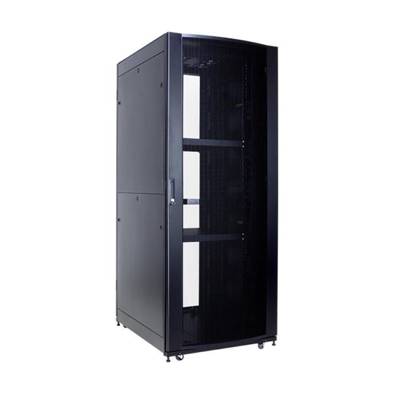 Linkbasic szafa stojąca rack 19'' 42U 800x800mm czarna (drzwi perforowane)