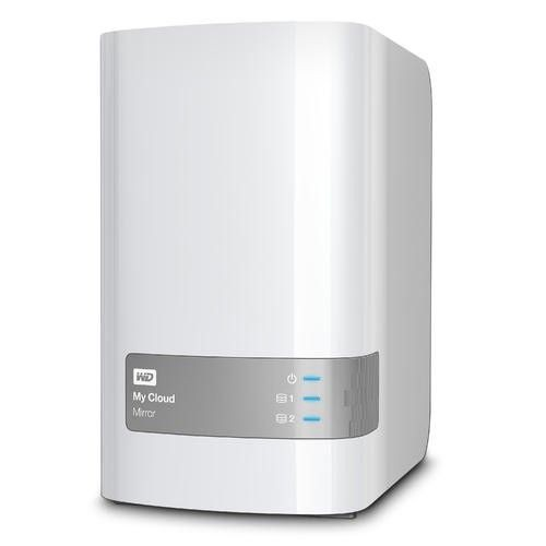 Western Digital NAS WD My Cloud Mirror, RAID, 8TB, 10/100/1000 Mb/s, biały