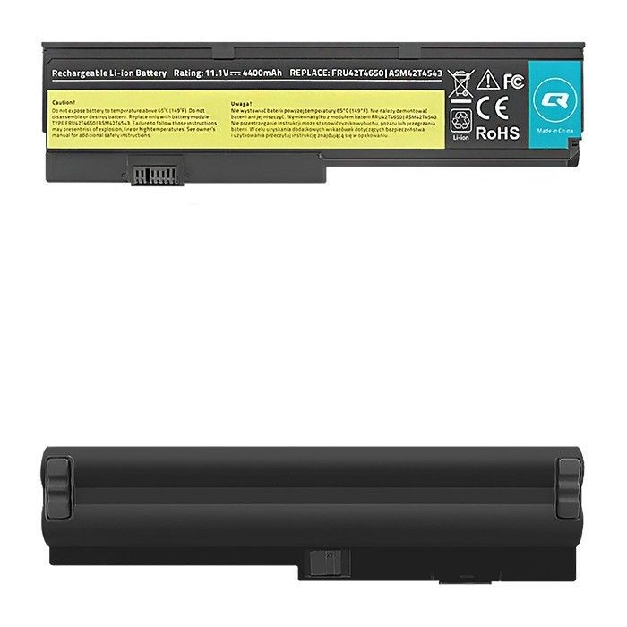 Qoltec Bateria do laptopa Long Life - Lenovo x200 x201 | 4400mAh | 11.1V