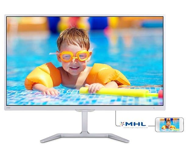Philips Monitor 246E7QDSW/00 23.6'', panel PLS, D-Sub/DVI/HDMI