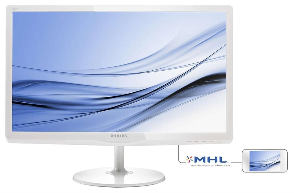 Philips Monitor 247E6EDAW/00 23.6inch W-LED, IPS-ADS, 14 ms, DVI-D, VGA, HDMI