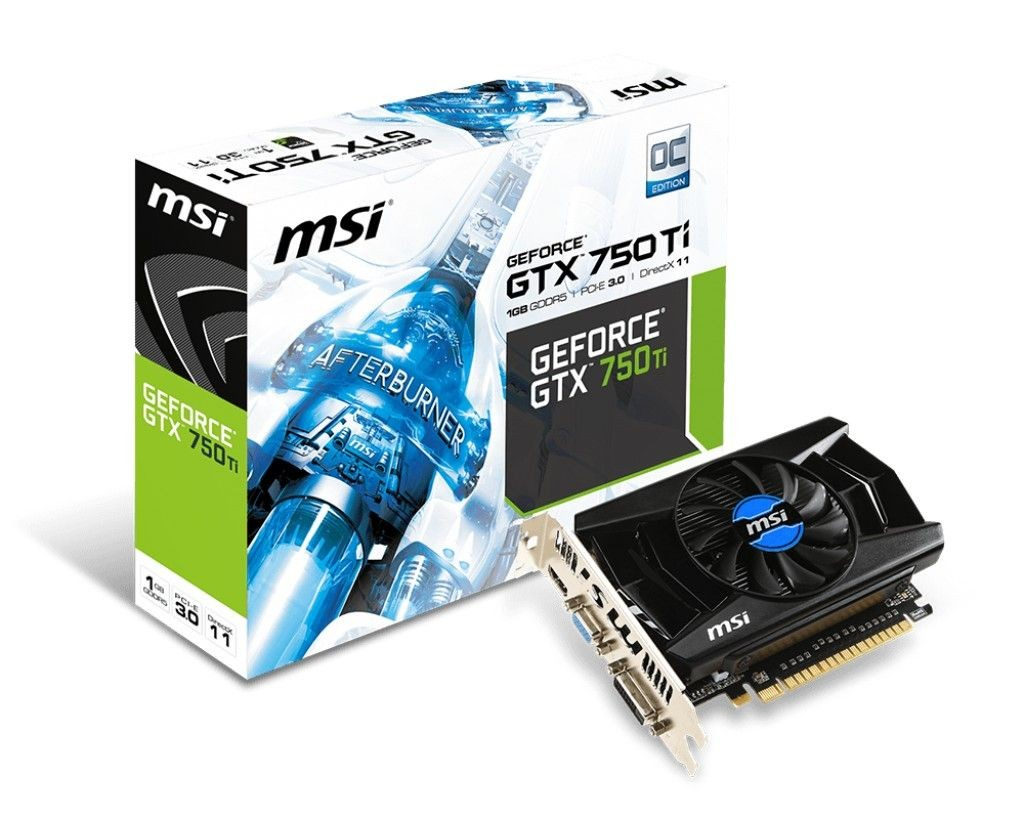 MSI KARTA PCI-E 1024MB GEFORCE GTX750Ti OC 128bit DDR5 VGA/DVI/HDMI retail / MSI