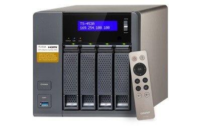 QNAP 4-Bay TurboNAS, SATA 6G, Celeron1.6G Quad Core, 8G RAM, 4x GbE LAN, USB 3.0