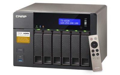 QNAP 6-Bay TurboNAS, SATA 6G, Celeron1.6G Quad Core, 4G RAM, 4x GbE LAN, USB 3.0