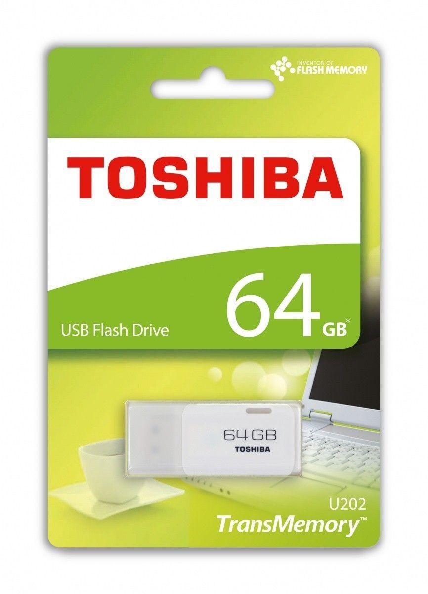 Toshiba 64GB U202 USB 2.0 WHITE