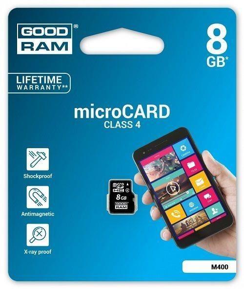 GoodRam Karta pamięci MicroSDHC 8GB Class4
